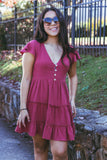 Leap of Faith Dress-Wine