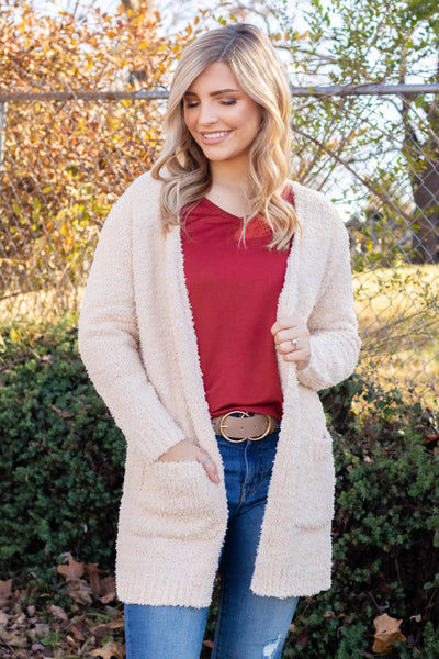 Super Soft Ivory Cardigan- Women's Soft Cardigan- Women's Fall Cardigan- $42