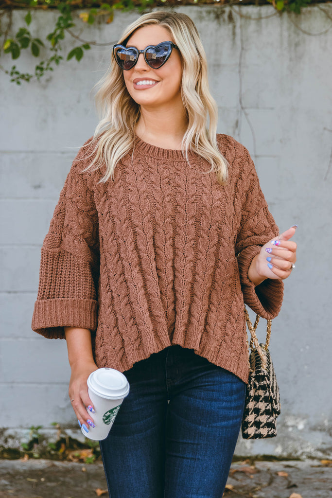RESTOCK: Around The Clock Sweater-Mocha
