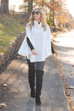 Chic Ivory Cape- Women's White Poncho- $34- Affordable Online Women's Clothing