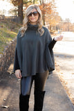 Chic Dark Olive Cape- Women's Olive Poncho- $34- Affordable Online Women's Clothing