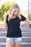 Relax And Unwind Pocket Tee-Black