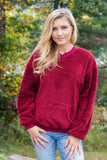 Cozy On Up Pullover-Burgundy
