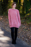 Hot Cocoa Chenille Sweater-Rose