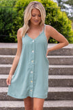 Simple Sage Green Cami Dress- Women's Sleeveless Dress With Buttons- $35- Juliana's Online Boutique