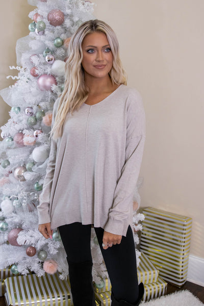 Luxuriously Soft Sweater- Oatmeal Sweater Feels Like Butter- $34