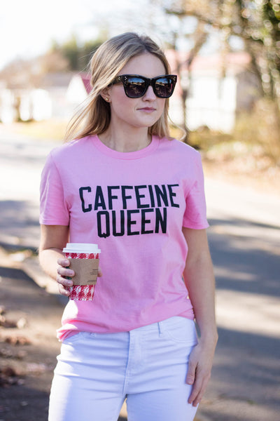Cute Caffeine Queen T-Shirt- Caffeine Queen Graphic Tee- $28- Juliana's Boutique