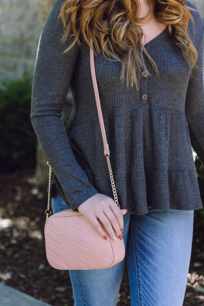 Trendy Blush Pink Crossbody- Designer Inspired Handbag- $22