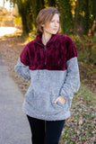 Mountain Escape Fleece Pullover-Burgundy