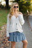 Super Soft Ivory Women's Sweater- Ivory Eyelash Women's Cardigan- $42
