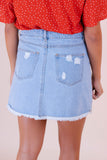 I Love Rock N Roll Denim Skirt