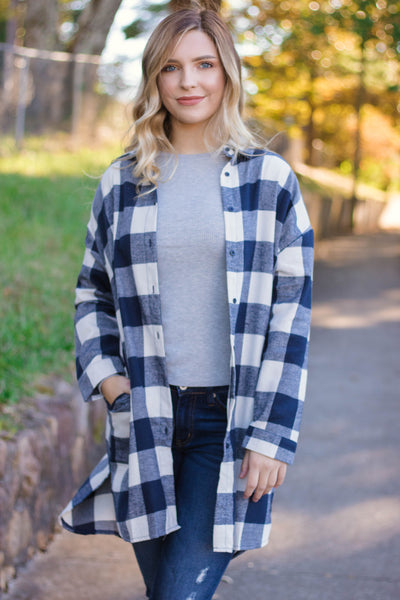 Cute Plaid Shirt Dress- Women's Buffalo Check Flannel- $34- Affordable Online Boutique