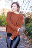 Ultra Soft Rust Sweater- Women's Oversized Boxy Sweater- Cute Cropped Fall Sweater- $28