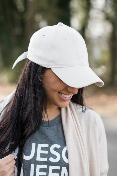 Faux Suede Baseball Cap- Women's Ivory Baseball Hat- $14- Cute Women's Baseball Hat
