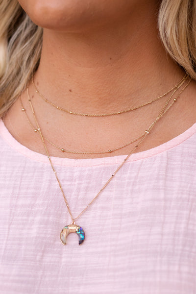 Boho Gold Necklace- Gold Layered Necklace- $16
