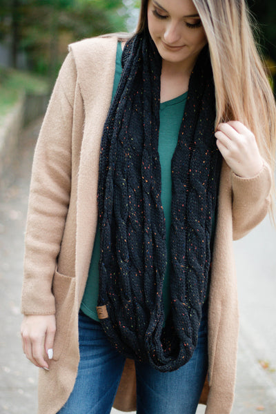 Hit Snooze Infinity Scarf-Black