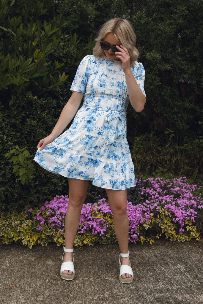 Darling Lace Dress- Light Blue Lace Dress- $42- Cute Online Boutique