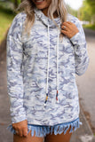 Women's Camo Print Pullover- Cute Camo Top- Long Sleeve Chic Camo Top- $40