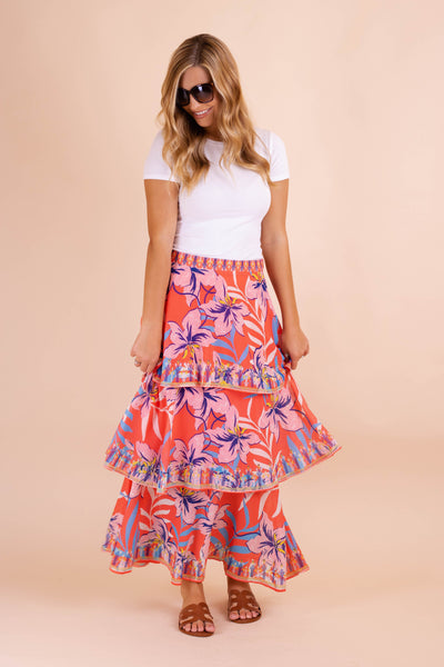 Sunset In Barbados Maxi Skirt