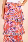 Tropical Print Maxi Skirt- Three Tiered Maxi Skirt- Cute Vacation Outfit- $44