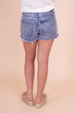 By The Record Machine Denim Shorts