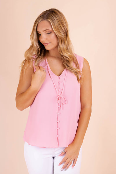 Essential Women's Blouse- Women's Baby Pink Blouse- $28- Juliana's Boutique