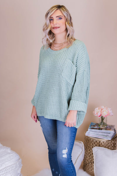 Sip On This Sweater-Mint