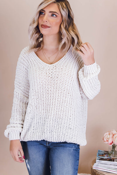 A Dash Of Spice Sweater-Ivory