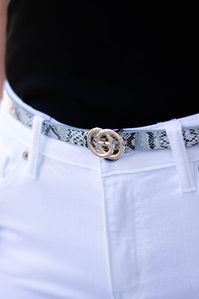 Cute Snakeskin Belt- Trendy Women's Belt- GG Dupe Belt- $12