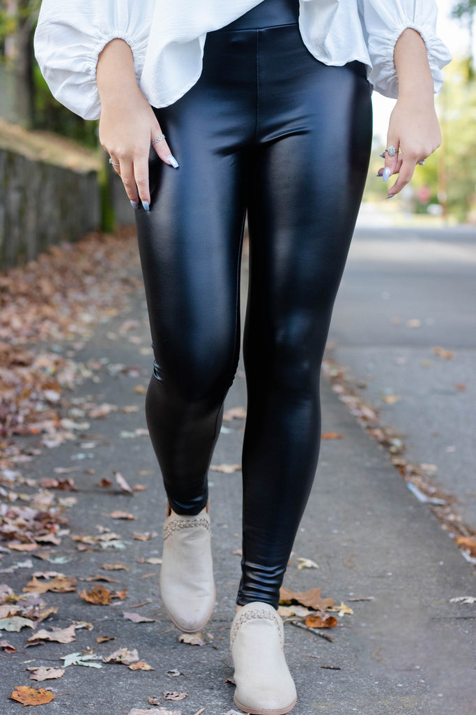 Play By My Rules Faux Leather Leggings