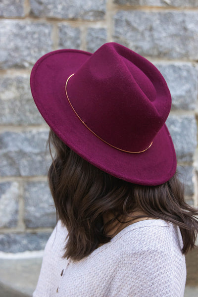 Felt Wine Hat- Women's Fall Hat- Women's Fall Accessories- $32