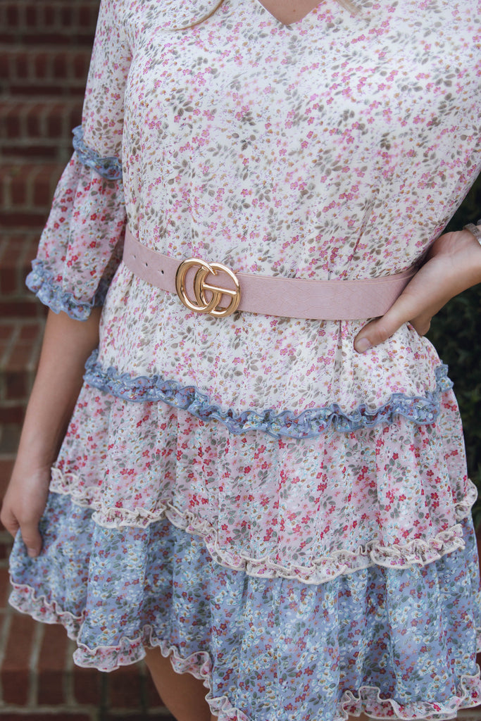 Blush GG Belt- Women's Faux Leather GG Belt- GG Belt Dupe- $14