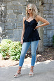 Sexy Black Tank Top- Women's Black Silky Top- $28- Juliana's Online Boutique