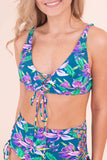 Floral Teal Bikini Top- Sexy Lace Up Bikini Top- $26- Juliana's Boutique