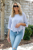 Women's Oversized Grey T-Shirt- Women's Relaxed Fit Tee- $18- Juliana's Online Boutique