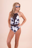Sexy One Piece Bathing Suit- Black Mesh Bathing Suit- $45- Juliana's Boutique