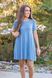 Simple Teal Tunic- Women's Tunic With Pockets- $20- Cute Online Women's Clothing Boutique