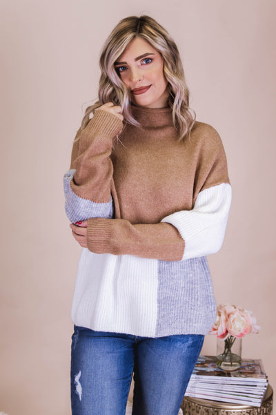 I'm In Love Sweater-Taupe
