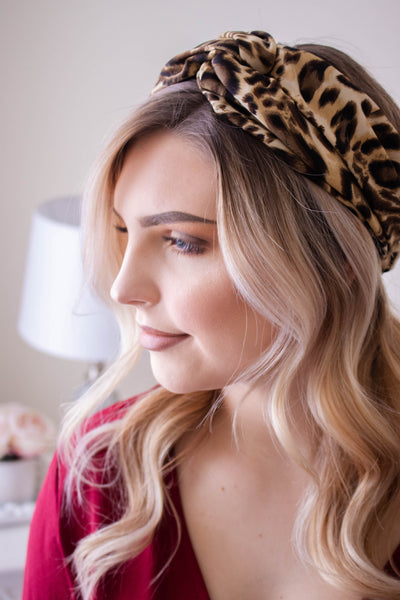 Charming To See You Leopard Headband