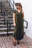Simple Charcoal Tunic- Women's Tunic With Pockets- $20- Cute Online Women's Clothing Boutique
