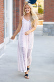 Blush Pink Snakeskin Maxi Dress- Snakeskin Print Dress- Blush Pink Flowy Maxi- $42