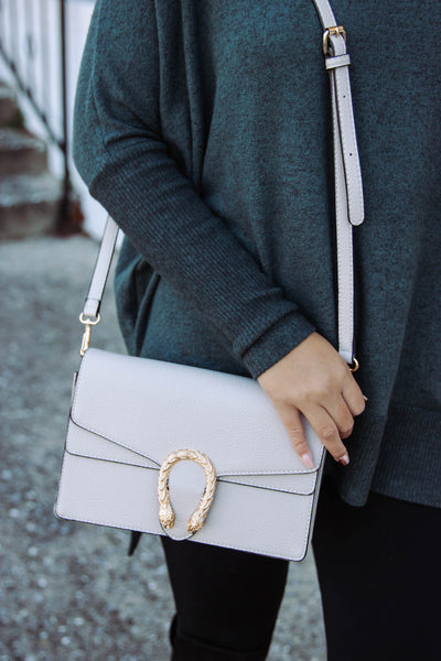 Trendy Taupe Crossbody- Designer Inspired Handbag- $30