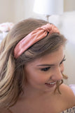 Be My Sweetheart Knotted Headband-Mauve