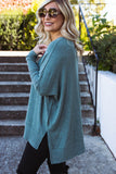 Women's Teal Super Soft Blouse- Women's Teal Tunic Top- $38