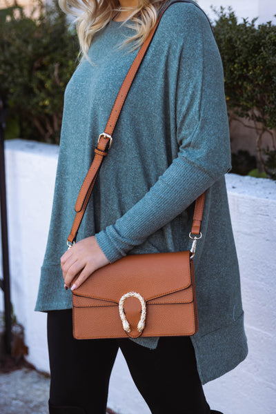 Trendy Brown Crossbody- Designer Inspired Handbag- $30