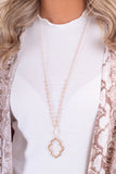 Reasons To Love Necklace-Taupe