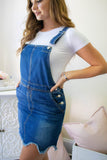 Denim Overall Dress- Cute Dark Wash Overalls For Women- $48- Cute Online Boutique