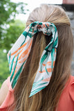 Cute Hair Scrunchie- Tropical Print Hair Scarf- $10