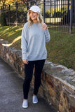 Oversized Heather Grey Pullover- Super Soft Women's Pullover- $40