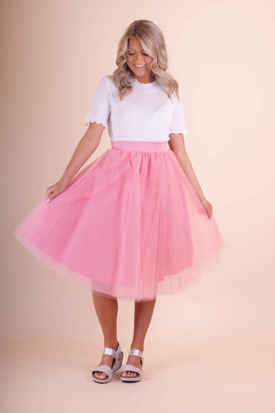 Women's Bubblegum Pink Tulle Skirt- Women's Tulle Skirt- $30- Juliana's Boutique
